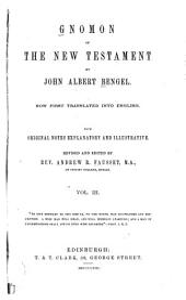 Gnomon of the New Testament: Volume 3