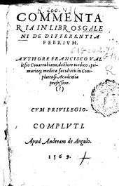 Commentaria in libros Galeni de differentia febrium