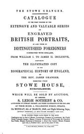 Catalogue of the first portion of the extensive and valuable series of engraved British portraits (etc.)