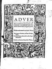 Adversvs Cvcvllatvm Minotauru[m] Vuittembergensem, Ioh. Dobeneck Vuendelstinus, alias Cochlaeus: De sacrame[n]toru[m] gratia, iteru[m]