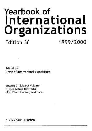 Yearbook of International Organizations 1999 2000 PDF