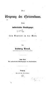 Der Ursprung des Christenthums
