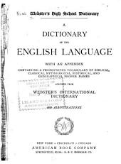 Webster's High School Dictionary: A Dictionary of the English Language ...