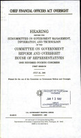 Chief Financial Officers Act Oversight PDF