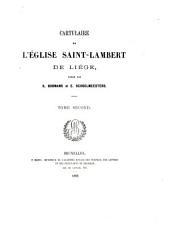 Cartulaire de l'église Saint-Lambert de Liége: No. 484-890, 15 mars 1251-19 déc. 1300
