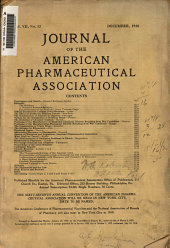 Journal of the American Pharmaceutical Association: Volume 7, Issue 12