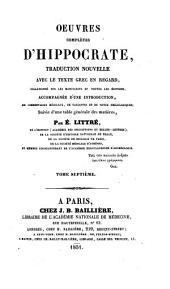 Oeuvres complètes d'Hippocrate: Volume5