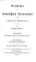 Literaturgeschichte des achtzehnten Jahrhunderts0 PDF