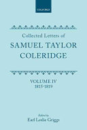 Collected Letters of Samuel Taylor Coleridge: 1815-1819