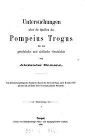 Untersuchungen Pompeius Trogus