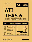 Ati Teas 6 Full Study Guide in Color 3rd Edition 2020 2021  Includes Online Course with 5 Practice Tests  100 Video Lessons  and 400 Flashcards