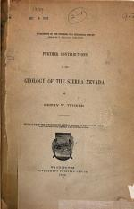Further Contributions to the Geology of the Sierra Nevada