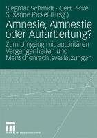 Amnesie  Amnestie oder Aufarbeitung  PDF