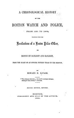 A Chronological History of the Boston Watch and Police PDF