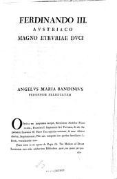 Bibliotheca Leopoldina Laurentiana seu catalogus manuscriptorum qui iussu Petri Leopoldi ... in Laurentianam translati sunt: Volume 3