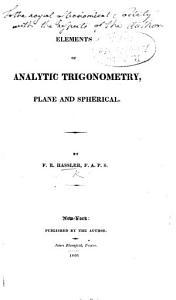 Elements of Analytic Trigonometry  Plane and Spherical PDF