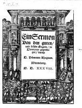 Ein Sermon Von den guten, vnd bösen Engeln, zu Hannover geprediget