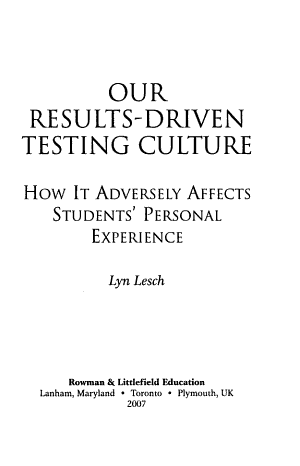 Our Results Driven Testing Culture