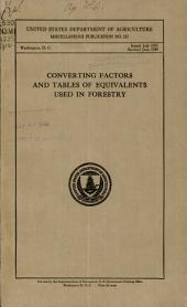 Converting factors and tables of equivalents used in forestry