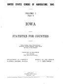 Download United States Census of Agriculture  1945  Statistics for counties  Farms  acreage  value  characteristics  livestock  livestock products  crops  fruits and value of farm products  33pts Book