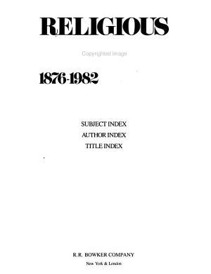 Religious Books  1876 1982 PDF