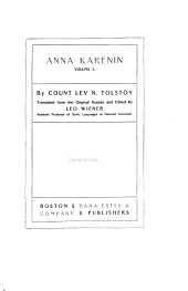 The Complete Works of Count Tolstoy: Anna Karénin