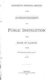 Annual Report of the Superintendent of Public Instruction, State of Illinois: Volume 11
