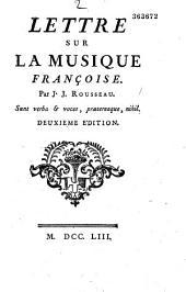 Lettre sur la musique française