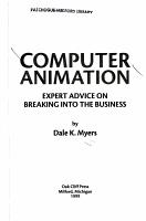 Computer Animation PDF