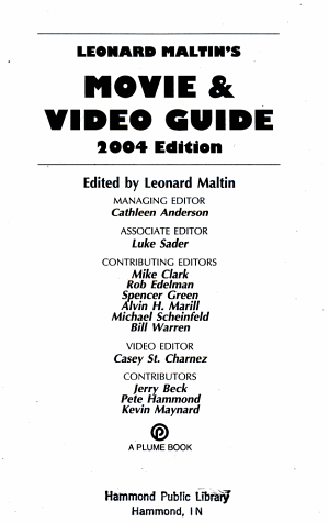 Leonard Maltin s Movie   Video Guide 2004 PDF
