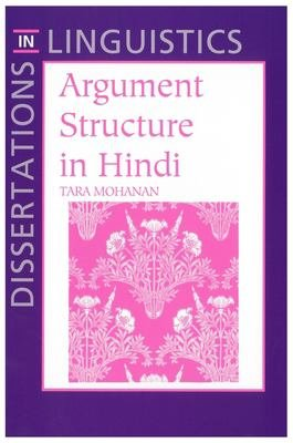 Argument Structure in Hindi PDF
