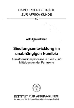 Siedlungsentwicklung im unabh  ngigen Namibia PDF