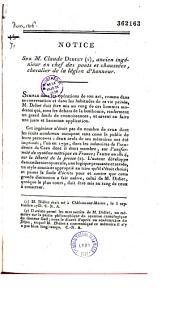 Notice sur Claude Didiet, ancien ingénieur en chef des Ponts et Chaussées,...