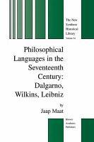 Philosophical Languages in the Seventeenth Century PDF