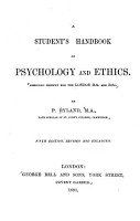 A Student s Handbook of Psychology and Ethics PDF