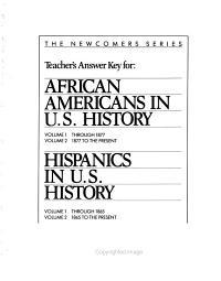 Hispanics in American History  1865 to present