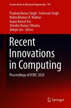 Recent Innovations in Computing PDF