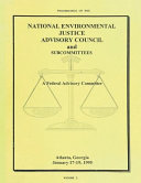 Proceedings of the National Environmental Justice Advisory Council and Subcommittees PDF