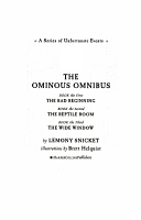 A Series of Unfortunate Events  The Ominous Omnibus  Books 1 3  PDF