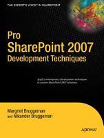 Pro SharePoint 2007 Development Techniques PDF