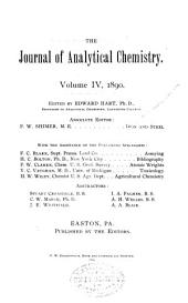Journal of Analytical and Applied Chemistry: Volume 4