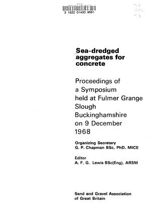 Sea dredged Aggregates for Concrete