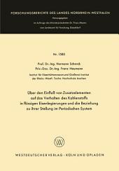 Über den Einfluß von Zusatzelementen auf das Verhalten des Kohlenstoffes in flüssigen Eisenlegierungen und die Beziehung zu ihrer Stellung im Periodischen System
