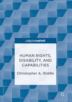 Human Rights  Disability  and Capabilities PDF