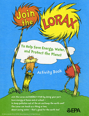 Join the Lorax to Help Save Energy  Water  and Protect the Planet