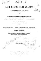 Legislacion ultramarina: Volumen 3