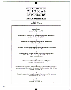 The Journal of Clinical Psychiatry Monograph Series PDF