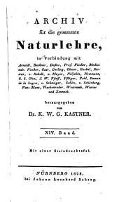 Archiv für die gesammte Naturlehre: Band 14