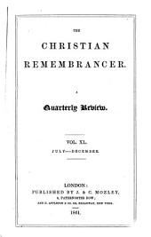 The Christian Remembrancer: Volume 40