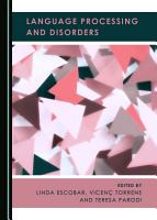 Language Processing and Disorders PDF